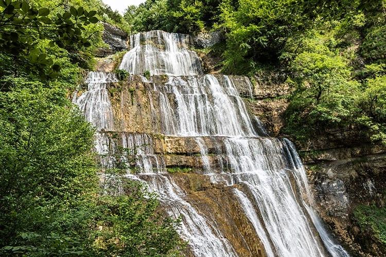 Watervallen van Hérisson, De Jura