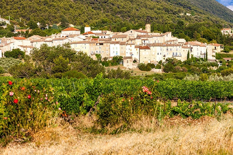 Het mooie dorp Venterol in Drôme