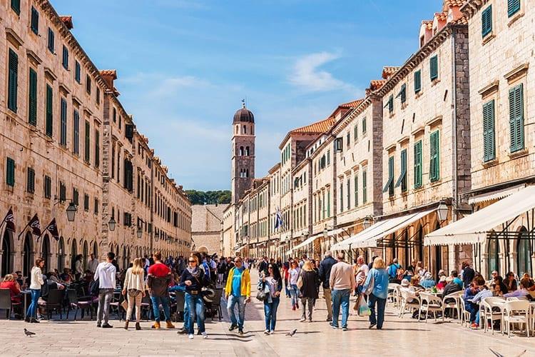 Hoofdstraat Stradun, Dubrovnik