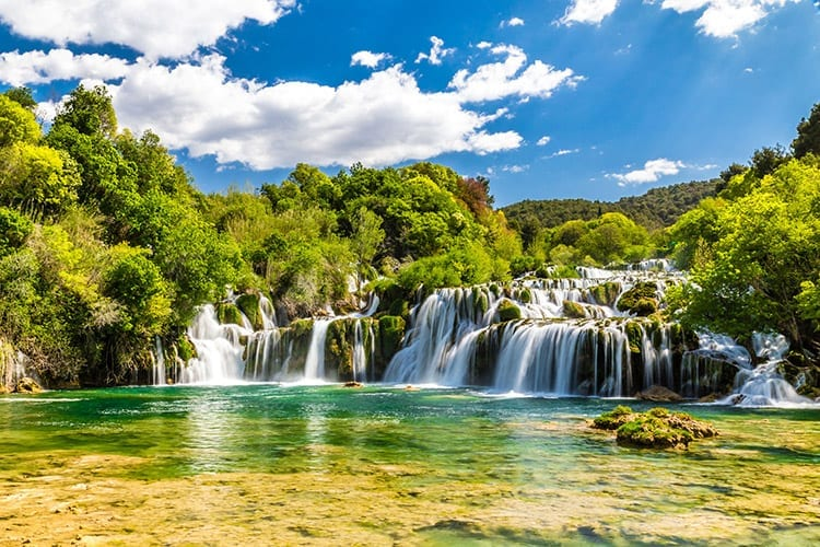 Krka Nationaal Park, Dalmatië