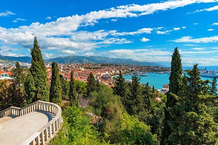 Stadspark Marjan uitzicht, Split