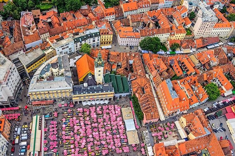 Dolacmarkt, Zagreb