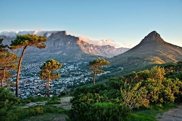 Uitzicht vanaf Signal Hill, Kaapstad