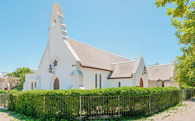 St Mary's Anglicaanse kerk bij de Braak, in hartje Stellenbosch