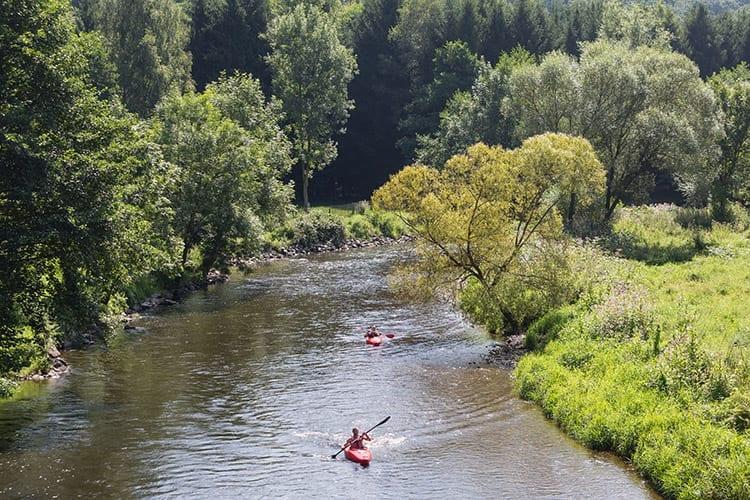 Ourthe rivier, Ardennen