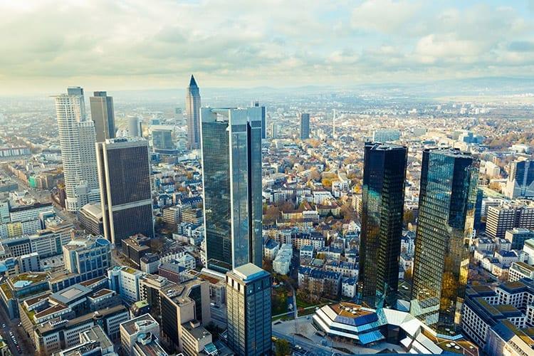 Uitzicht vanaf de Main Tower, Frankfurt