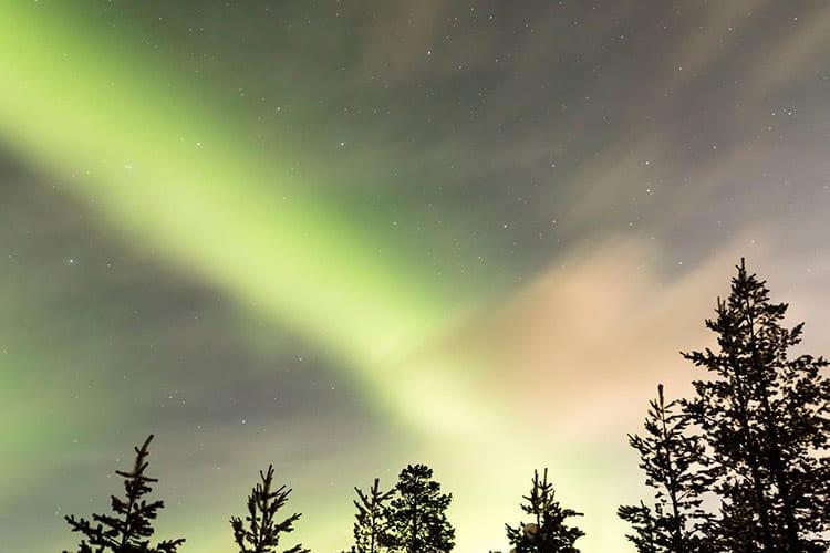 Noorderlicht in Zweeds Lapland