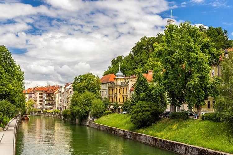 Ljubljana rivier