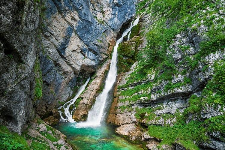 Slap Savica waterval, Meer van Bohinj