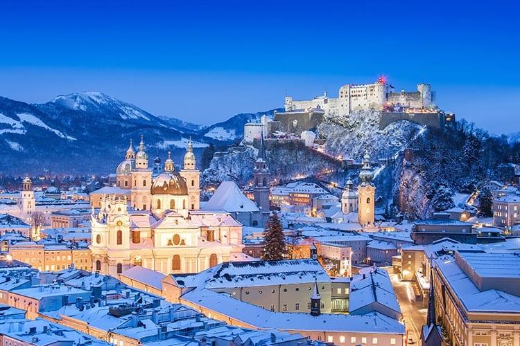 Salzburg in de winter