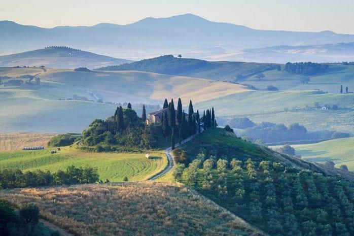 Val d'Orcia, roadtrip Toscane