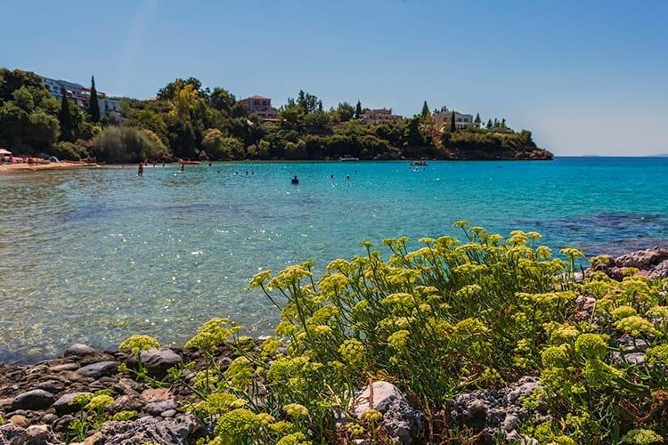 Alypa Beach bij Kardamyli, Peloponnesos