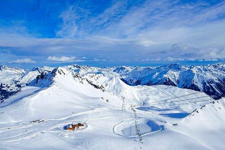 Davos Kloster Mountains, Zwitserland