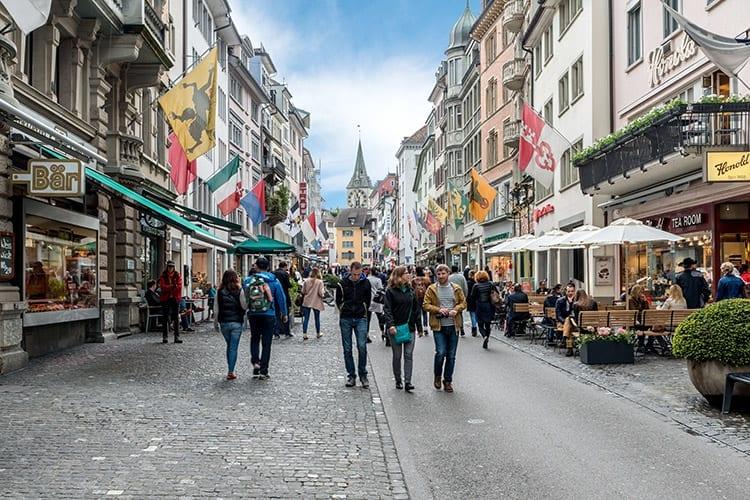 Winkelen in Zürich