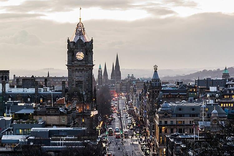 Stedentrip Edinburgh december