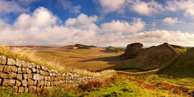 Muur van Hadrianus, Engeland