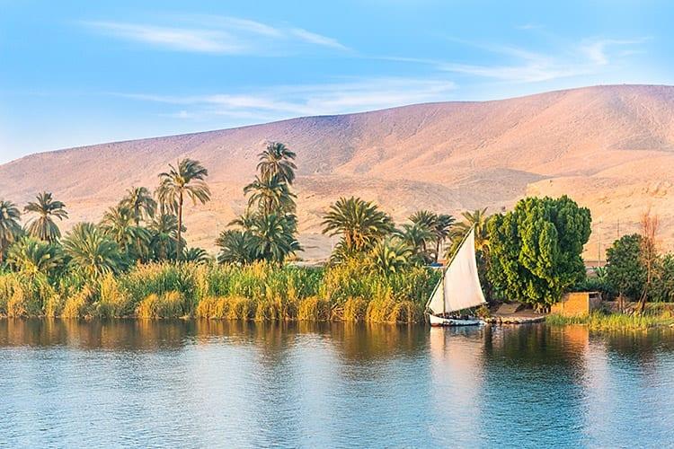 Felucca op de Nijl, Luxor