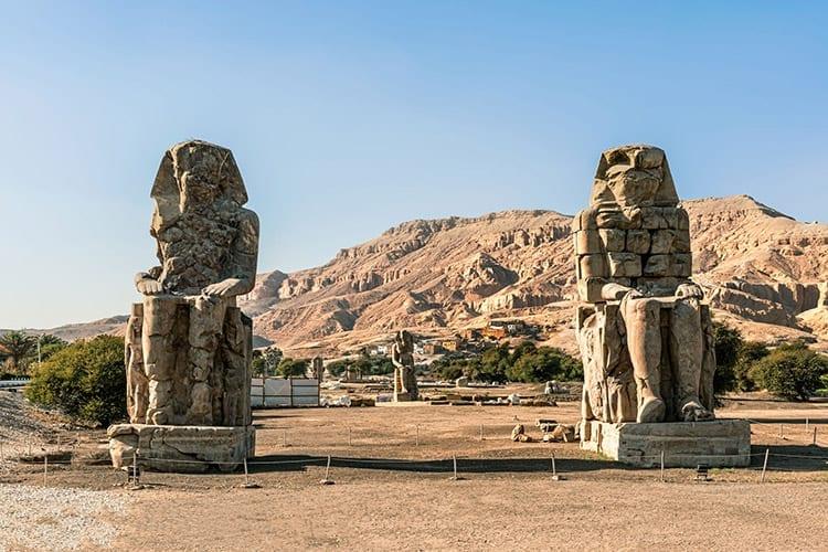 Kolossen van Memnon, Luxor