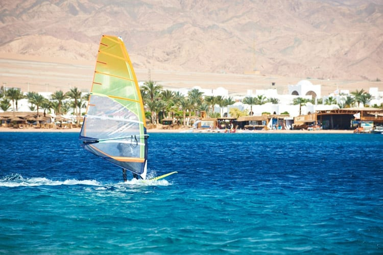 Egypte, Dahab, windsurfen