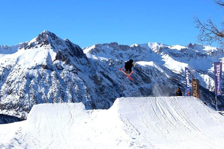 Italië, Bardonecchia, snowpark