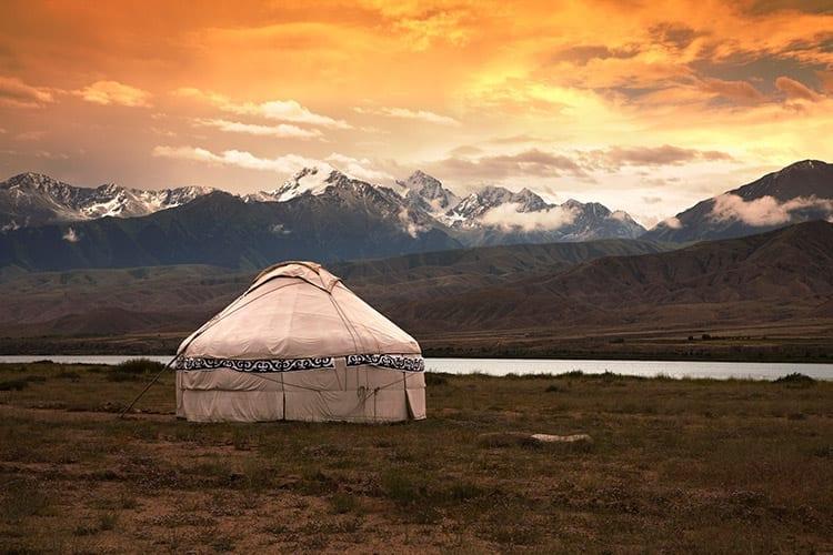 Overnachten in een ger, Mongolië