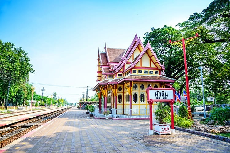 Treinstation in Hua Hin