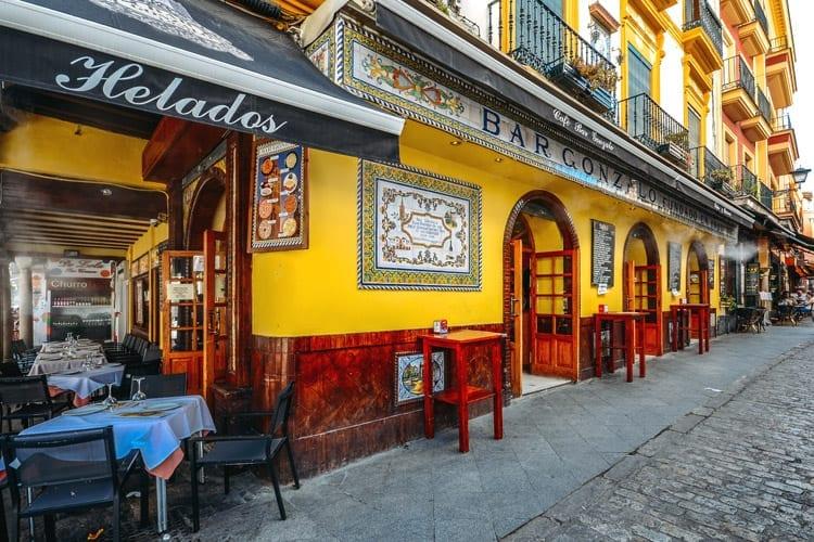 Spanje, Sevilla, tapasbar